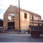 The Edeli Building under construction, 1999.