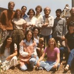 The San Francisco School Staff, circa 1970.  Left to right, Back row: Jim, Pamela, Melissa, Lynn, Terry, Doug, Ron?, Andy Front row: Temporary Art Teacher, Jocelyn, Janet, BobDog, Karen, Temporary Art Teacher