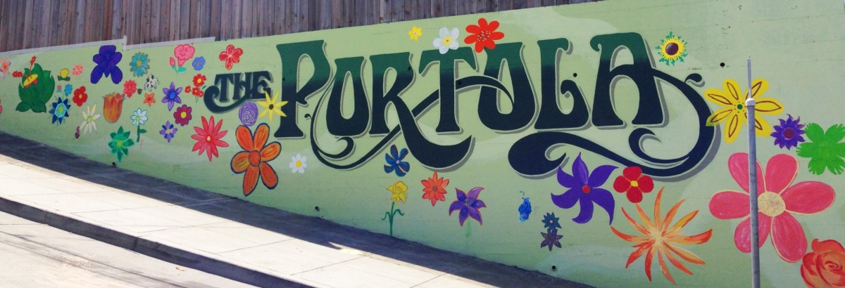 A mural designed and guided by a parent at our School Work Day in Spring 2015 around the corner from campus.