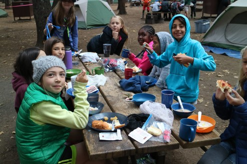 Morning Breakfast in camp at Upper Pines Campground: Half Dome Village, Yosemite