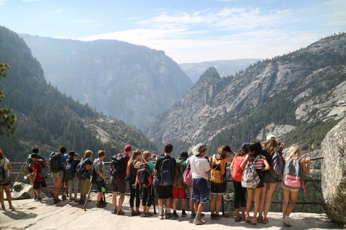 Sixth and Seventh Graders go on their annual outdoor education trip - this year they went to Yosemite