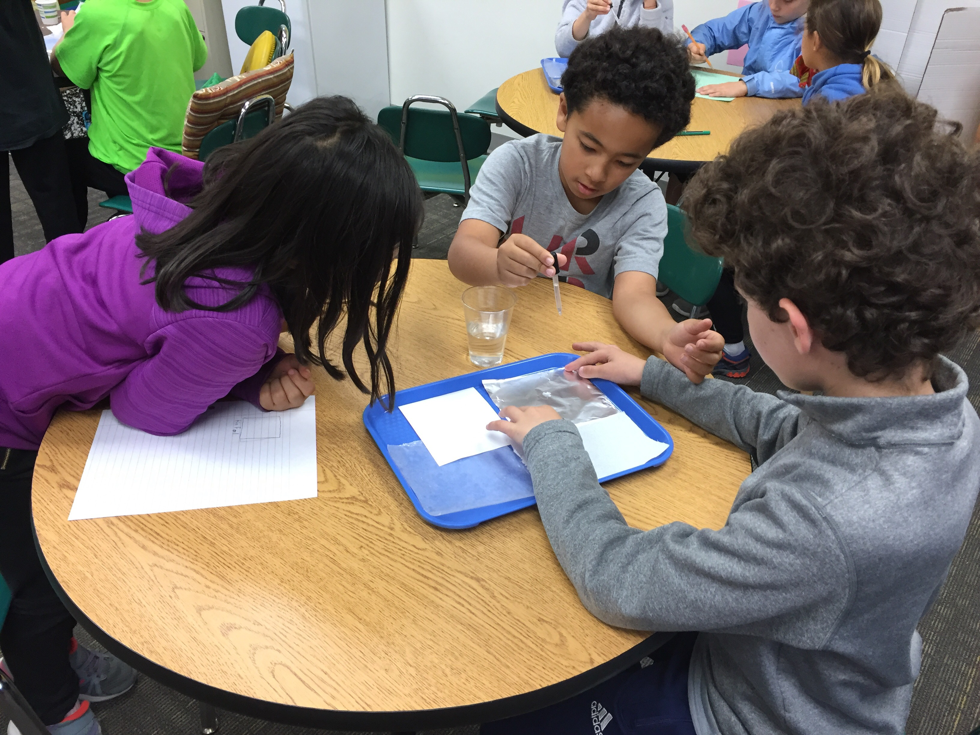 Fourth Grade students explore water physics