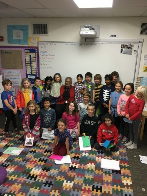 Minnijean Brown-Trickey spends time with Second Grade