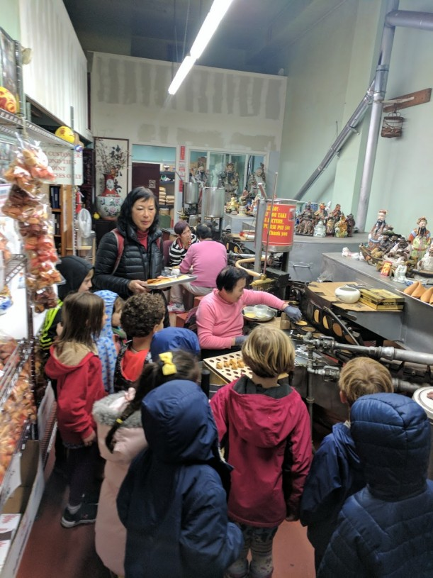 South Class Bald Eagles go on a field trip to Chinatown and get to know a fortune cookie factory.